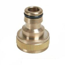 """BRASS OUTSIDE TAP GARDEN HOSE CONNECTOR ADAPTOR BSP Fits 1/2"""" 3/4"""" Pipe Tap"""