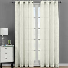 Andora Embroidered Grommet Top Sheer Panel Curtain Sets Pair (Set of 2 )