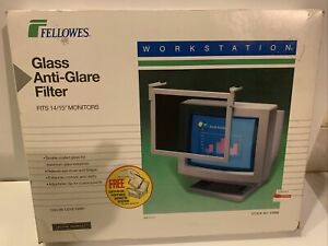 """Vintage Fellowes Glass Anti-glare Filter (For 14""""/15"""" Monitors)"""