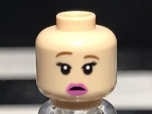 Lego Flesh Female Minifigure Head With Dual Face X1 Woman Girl Spare Part