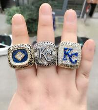 3 Pcs 1985 2014 2015 Kansas City Royals World Championship Ring Gift !!