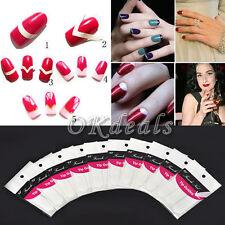 10 Packs French Manicure Nail Art Tips Form Fringe Guides Sticker DIY Stencil JU
