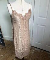 Odd Molly Slip Dress 1990s Style Size 0 (10) Lace Boho Peasant