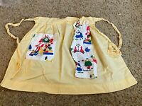 Vintage Half Apron With  Towel attached Super Cute