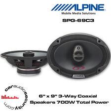 """Alpine SPG-69C3 - 6 x 9"""" 3-Way Car Coaxial Shelf Speaker 700 Total Power"""