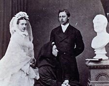 Rare c 1860 CDV Photo QUEEN VICTORIA in Mourning BUST Prince Albert EDWARD VII