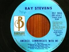 """RAY STEVENS 45 RPM """"America Communicate With Me"""" """"Monkey See, Monkey Do"""" VG"""