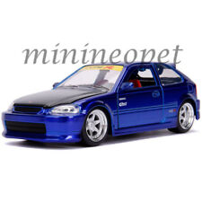 JADA 30929 JDM TUNERS 1997 HONDA CIVIC EK TYPE R 1/24 DIECAST MODEL CANDY BLUE