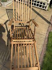 More details for hardwood sun lounger