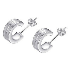 New Women'S Studs Earrings Small Hoops Silver Plated