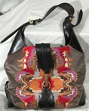 Cole Haan madelyn tapestry  and leather handbag