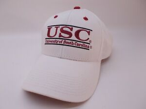 University of South Carolina White Hat Embroidered Adjustable Baseball Cap