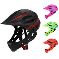 Detachable Bicycle Helmet With Rear Light Chin Safe Cycling Children Balance