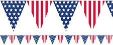 10 METRES USA AMERICA FABRIC FLAG TRIANGLE BUNTING 4TH JULY INDEPENDENCE DAY