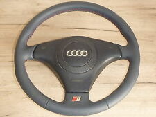 S-LINE SPORT STEERING WHEEL LEATHER BLUE AUDI A4 A6 WITH AIRBAG 4B0124A
