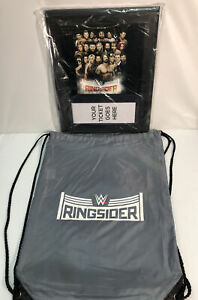WWE Ringsider Souvenir Ticket Holder Plaque (New Other) Drawstring Pouch (Used)