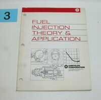 1995 Chrysler Fuel Injection Theory and Application Factory Student Workbook  #3
