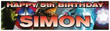 2x 3ft X 1ft Personalised Avengers Super Heroes Birthday Banners Any Age Name 2 for 1