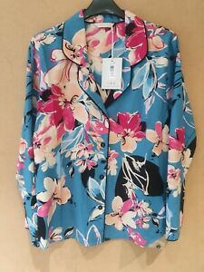 Cyberjammies Hannah Floral Pyjama TOP Size 10
