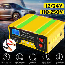 12V 24V Car Battery Charger Full Automatic Pulse Repair Motercycle Truck 10A