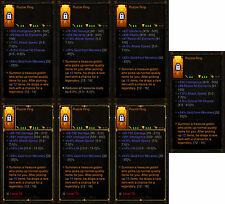 Diablo 3 RoS PS4 [SOFTCORE] Puzzle Ring Bundle [60 Rings] Treasure Goblin Vault!
