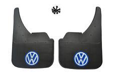 Universal Car Mudflaps Front Rear VW Volkswagen Blue Golf MK4 MK5 MK6 MK7 Guard