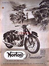 1952 NORTON 'Dominator' Motor Cycle AD #8 - Vintage Original Print ADVERT