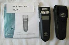 More details for logitech cordless 2.4 ghz presenter r-rb5 laser pointer c/w case usb dongle