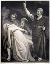 PAUL EXPELLING THE EVIL SPIRIT FROM THE DAMSEL OF PHILIPPI 1795 ANTIQUE ETCHING