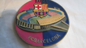AUTHENTIC CERAMIC 3D FC BARCELONA WALL PLATE / PLAQUE OFFICIAL MERCHANDISE HEMA