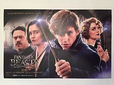 """Fantastic Beasts and Where to Find Them, Movie Poster, AMC Stubs, 17"""" x 11"""""""