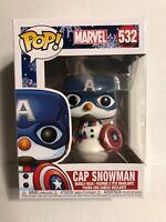 Funko POP Marvel Captain America Snowman Pop Vinyl Bobblehead Figure 532 IN HAND