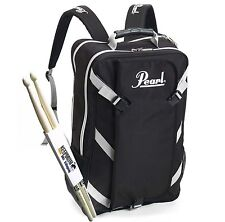 Pearl PDBP-1 Backpack with Removable Stick-Bag + Keepdrum Drumsticks