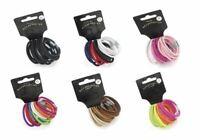 14 Thick Hair Elastics Bands Pony Tail Bobbles Ponios Hairbands School Colours