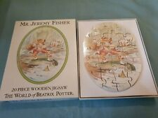 Michael Stanfield Beatrix Potter 20 Piece Mr Jeremy Fisher Wooden Jigsaw Puzzle