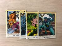 DC Stars Trading cards Base and Foil single cards by Skybox 1994 DC