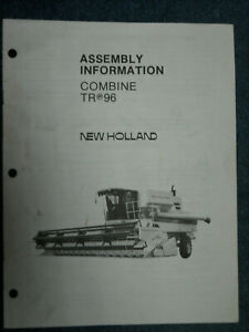 New Holland Header Operators Manual TR 96 Combine