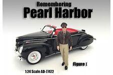 "REMEMBERING PEARL HARBOR I AMERICAN DIORAMA 1:24 Scale MALE MAN 3"" FIGURE"