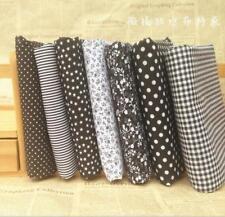 DIY Stoffpaket  Schwarz Quilt Stoffreste 7*( 25*25cm) Quadrate 100 % Baumwolle