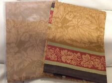 Williams Sonoma 2 Wine Country Harvest Jacquard Kitchen Towels Gold Thanksgiving