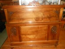 Antique French Provincial walnut double bed c 1910
