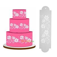 2pcs Plastic Printing Fondant Cake Cookies Mold DIY Mold Cutter Decor Tool Model