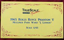 """BEATLES 1965 ROLLS ROYCE PHANTOM V """"J.LENNON"""" TrueScale 1:43 DIECAST - VERY RARE"""