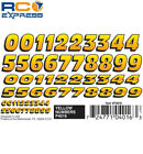 Pinecar Dry Transfer Yellow Numbers PIN4016