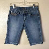 Standards & Practices Women's 27 Waist Stretchy Light Wash Low Rise Shorts