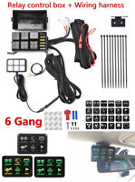12v LED Switch Panel Relay Control Box+Wiring Harness For Car Vehicle