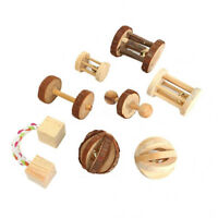 Wooden Pet Toys Pine Unicycle Roller Chew Toys for Guinea Pigs Rat Rabbits New
