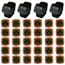 SINGCALL Wireless Service Market Calling System 4 Watches 30 Multi-button Bells