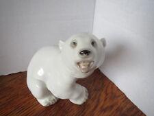 Vintage Lomonosov Ussr Russia Polar Bear Cub Figurine Great Detail! Mint