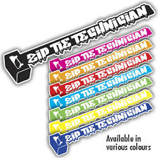ZIP TIE TECHNICIAN sticker 180mm x 35mm ratlook vw dub jdm: mr oilcan